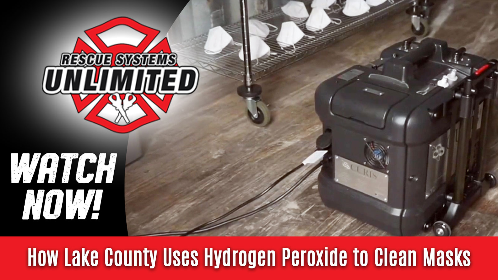 Watch how Lake County uses hydrogen peroxide to clean masks!